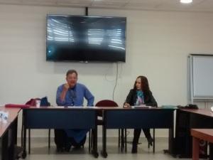 Dr. Mauricio Andión y Dra. Gladys Ortiz inician la sesión del tercer seminario GECE 2014.