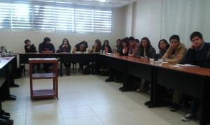 Alumnos y alumnas de licenciatura y de posgrado de la UNAM y de la UAM participaron en el seminario. GECE 2014.