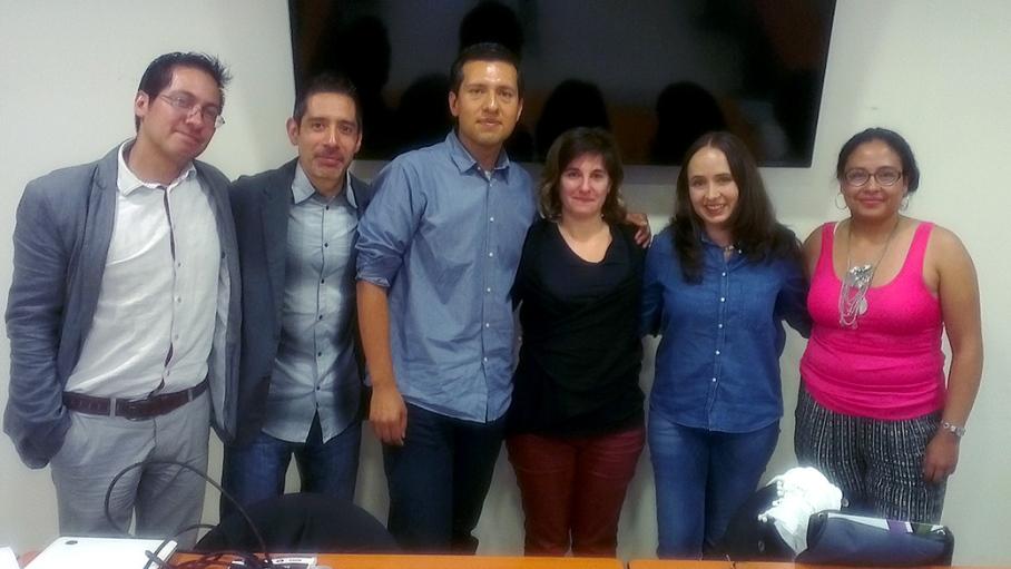 De izquierda a derecha; Dr. Ozziel Nájera, Mtro. Daniel Hernández, Mtro. Oscar Hernández, Dra. Inés Dussel, Dra. Gladys Ortiz y Mtra. Karla Edurne