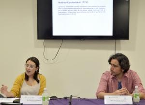 En la foto la Dra. Miriam Peña y el Mtro. Fernando Cruz